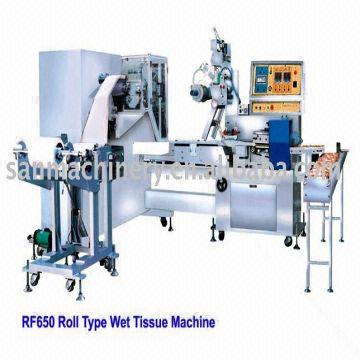 Rolled Wet Wipes Manufacturing Machine Wet Napkin Making Machinery
