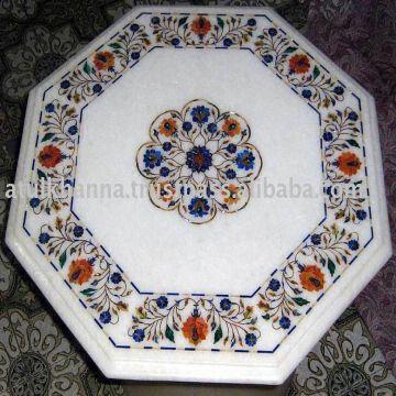 Marble Inlay Coffee Table Top We Used Indian Marble U0026 Semi Precious Stones  For Inlay U0026 Pietra Dur