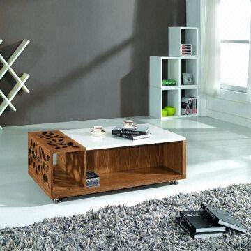 Modern Design Marble Top Living Room Coffee Table Set Center Table ...
