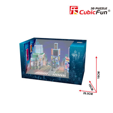 China CubicFun MagicBox 3D Puzzles Game For Kids With New York Times Square Design