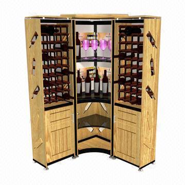 bar with wine rack
