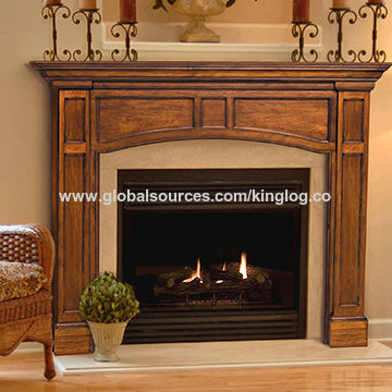 China Wood Fireplace Mantel Top Material