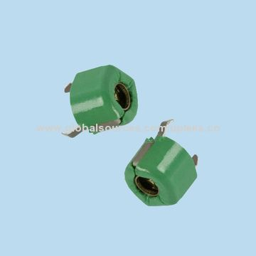 Taiwan DIP 6mm Ceramic MURATA Trimmer Capacitors, 5.2~30pF, 100V, F Type(Top Adjustment), TZ03R300F169B00