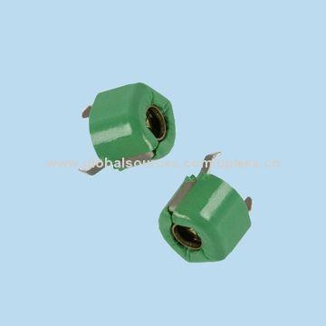 Taiwan DIP 6mm Ceramic MURATA Trimmer Capacitors, 5.2~30pF, 100V, F Type(Top Adjustment), TZ03R300F169B00