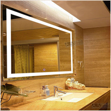 China Factory Direct Touch Screen Illuminated Bathroom Mirror With Led Light Led02
