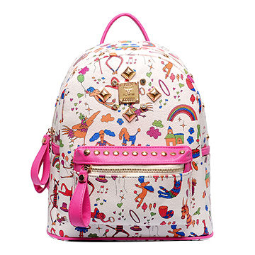 2015 girls' school backpacks made of PU leather, cartoon image ...