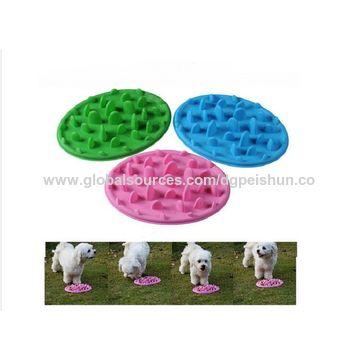 Custom slowly feed soft silicone pet travel bowls