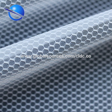2e98611759b ... China Non-stretch thick honeycomb polyester mesh fabric for shoes  material ...
