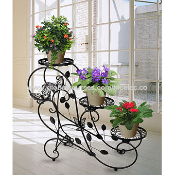 Hlc Plant Stand Rustic Flower Rack