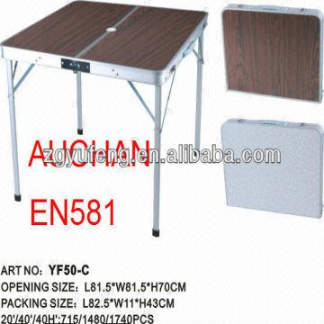 China Portable Suitcase Table Folding Camp