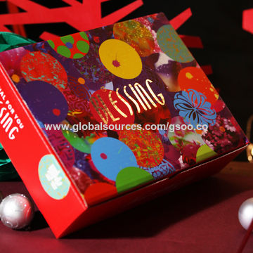 China New year gift design wholesale packing paper box