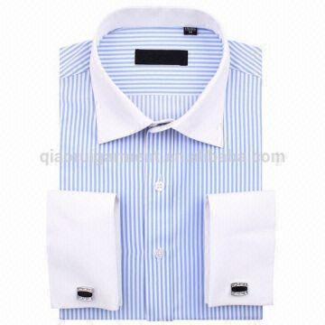 Custom men 39 s elegant long sleeve contrast collar and cuff for Mens dress shirts with contrasting collars and cuffs