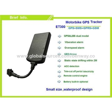 Software free waterproof GPS tracker for motorcycle ET300 with