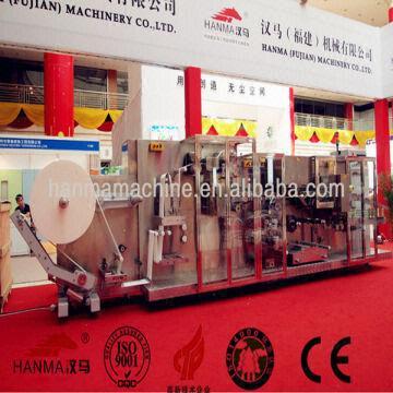 Hanma Wet Tissue Packing Machine Wet Wipes Manufacturing | Global