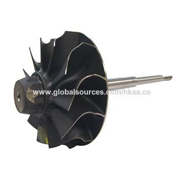 China 6 axis titanium turbine wheel turbo parts for Mazak