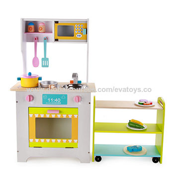 ... China 2017 New Design Funny Kids Wooden Kitchen Play Set