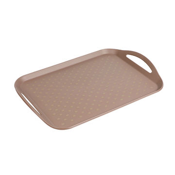 Plastic Serving Tray with Handles BPA-free Safety Fast Food Tray ...