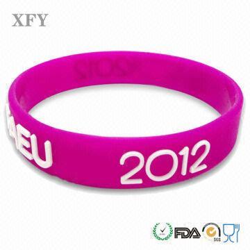 Xfy No Minimum Free Shipping Custom Silicone Wristband For Adult