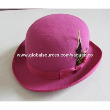 93d4892368835 ... China 100% wool felt lady fedora hats ...