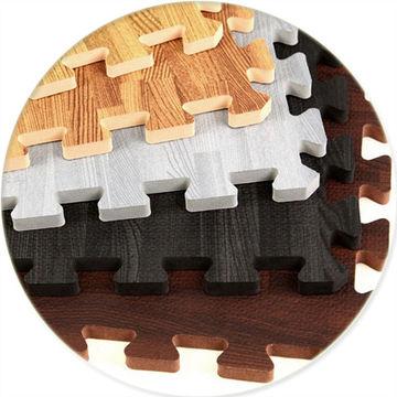 China Wood Grain Foam Floor Mat Interlocking Foor Tiles