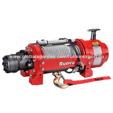 Runva 10,000lbs Hydraulic Winch/Planetary Gear, Efficient