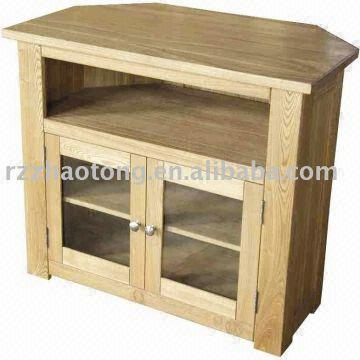 Wood Corner Tv Stand Size 66x66x67cm Solid Oak Mdf Glass Color