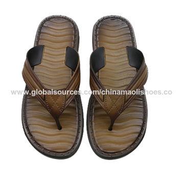 3ce49c18d4b919 China 2019 Latest Design Slides men sandals Slipper pu Sandals flip flop  chappal design ...