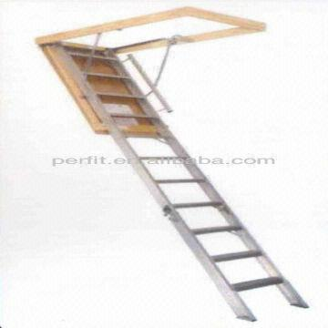 Aluminum Folding Attic Stairs Safety Ladder Offer To Asia