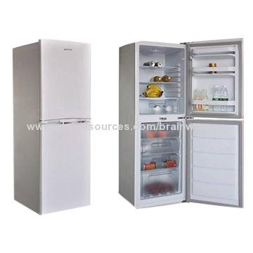 China Refrigerator, Double Door, Bottom Freezer