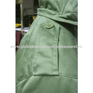 China 2017 new style anti stop pure green army jacket for men