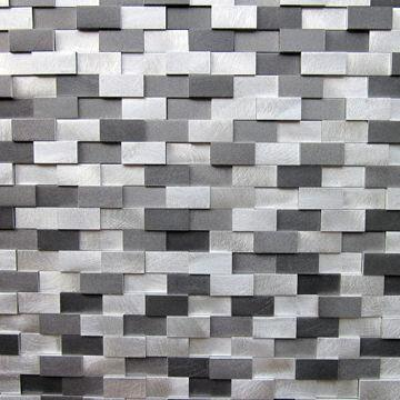 Mosaic Tiles Circular Brushed Aluminum
