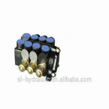 60l/min Sectional Hydraulic Directional Control Valve, 3