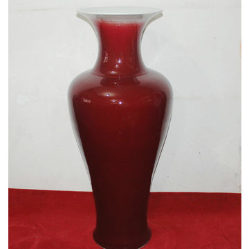 Large Chinese Oxblood Red Floor Vase Global Sources