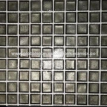 China Black Glazed Strip Subway Tile Ceramic Wall Porcelain Mosaic Backsplash Tiles