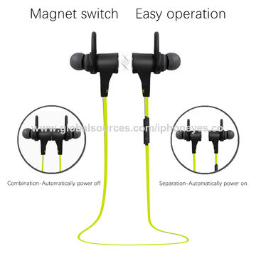 China Bluetooth V4.1 Wireless Headphones, In-Ear Sports Earphones/Headset/Noise Reduction Stereo Earphones