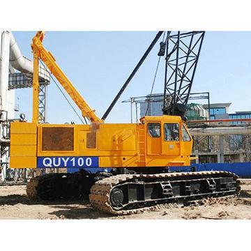 China Crawler crane, 100 ton mobile crane price XGC100 crawler crane