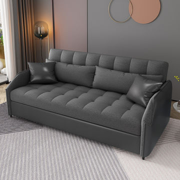 Global Sources Lazy Sofa Bed Folding, Black Leather Sofa Bed With Storage
