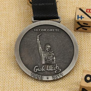 China Cheap high quality custom zinc alloy metal marathon running football sports gold sports medal