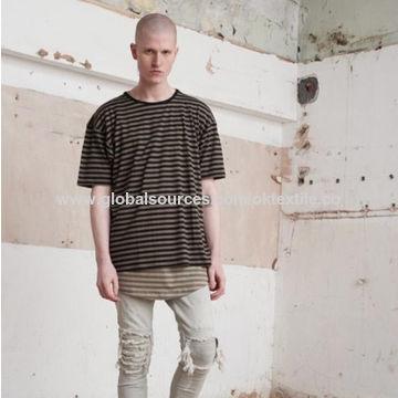 China 2017 New Design Straight Slim Fit Rip Denim Jeans