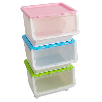 China Promotional Plastic Storage Container Stackable Closet Box Clothes With Wheels