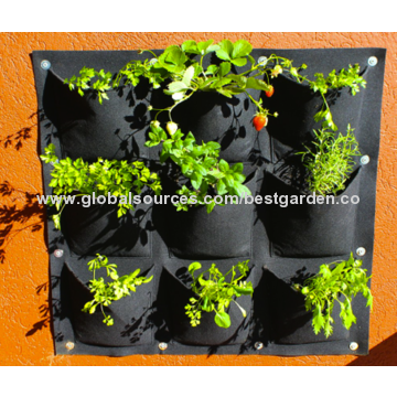 China Vertical Garden Planter, Top Quality Eco-friendly Recycled Materials, Waterproof for Mess-free Use.