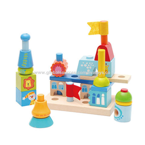 China Educational Children S Creative City Buildings Wooden Toys