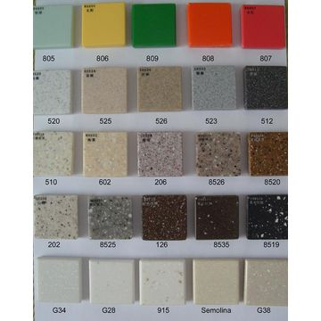 100% pure acrylic solid surface sheets Corian colors | Global Sources