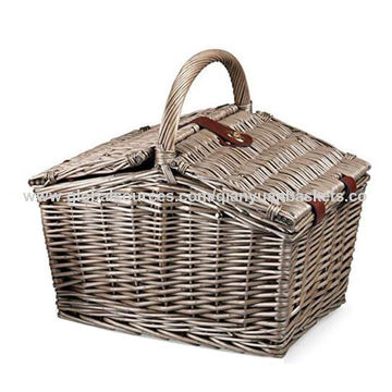 China Picnic Basket Set Wicker Picnic Basket Wicker Hamper Service For 2 4 Persons On Global Sources Wicker Basket Storage Basket Wicker Hamper
