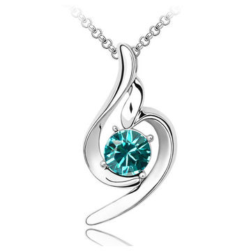 China Fashionable Design Platinum-plated for Women's Austria Crystal Necklaces