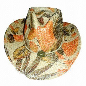 ea03df26ce4c4 Western Raffia Straw Cowboy Cowgirl Hat with Sewn Elastic Sweatband ...