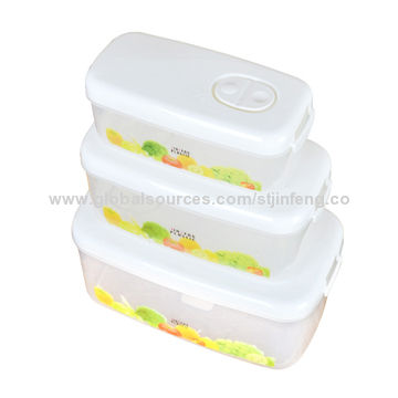 Plastic fridge storage containers 3pcs set include largemedium