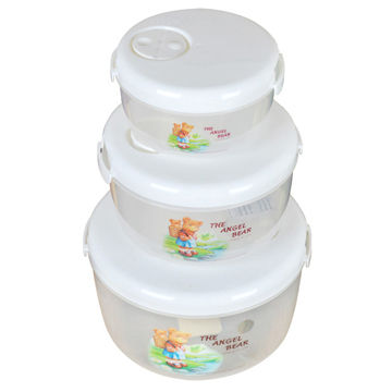 Plastic fridge storage containers 3pcs setlargemedium small