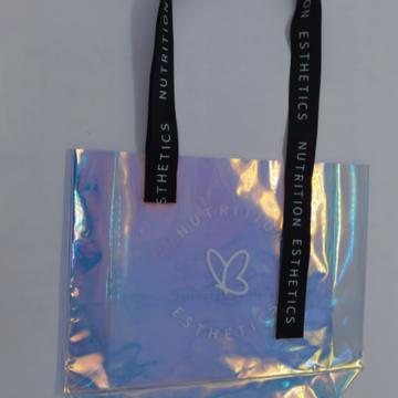 large-capacity shoulder bag iridescent bags colorful bag for women gifts for women PVC tote bag laser tote bag Handmade shoulder bags