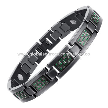 China 2017 Germanium Anium Sport Golf Bracelets For Men Magnetic Bio Energy
